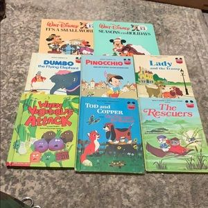 Other - Lot of 8 Beautiful Vintage Waltz Disney Kids Books